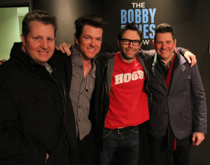 With the new found fame and national audience Bones has been able to raise hundreds of thousands of dollars for charities, lots of times with the help of his famous friends on Music Row like Rascal Flatts. PHOTO COURTESY OF PREMIERE NETWORKS