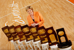During Pat Summitt's legendary coaching career she led the Tennessee Lady Vols to eight NCAA National Championships. PHOTO COURTESY TENNESSEE ATHLETICS