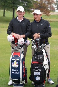PGA TOUR players Brandt Snedeker (left) and Scott Stallings (right) were captains at the inaugural Tennessee Junior Cup in 2012. PHOTO COURTESY TENNESSEE GOLF FOUNDATION