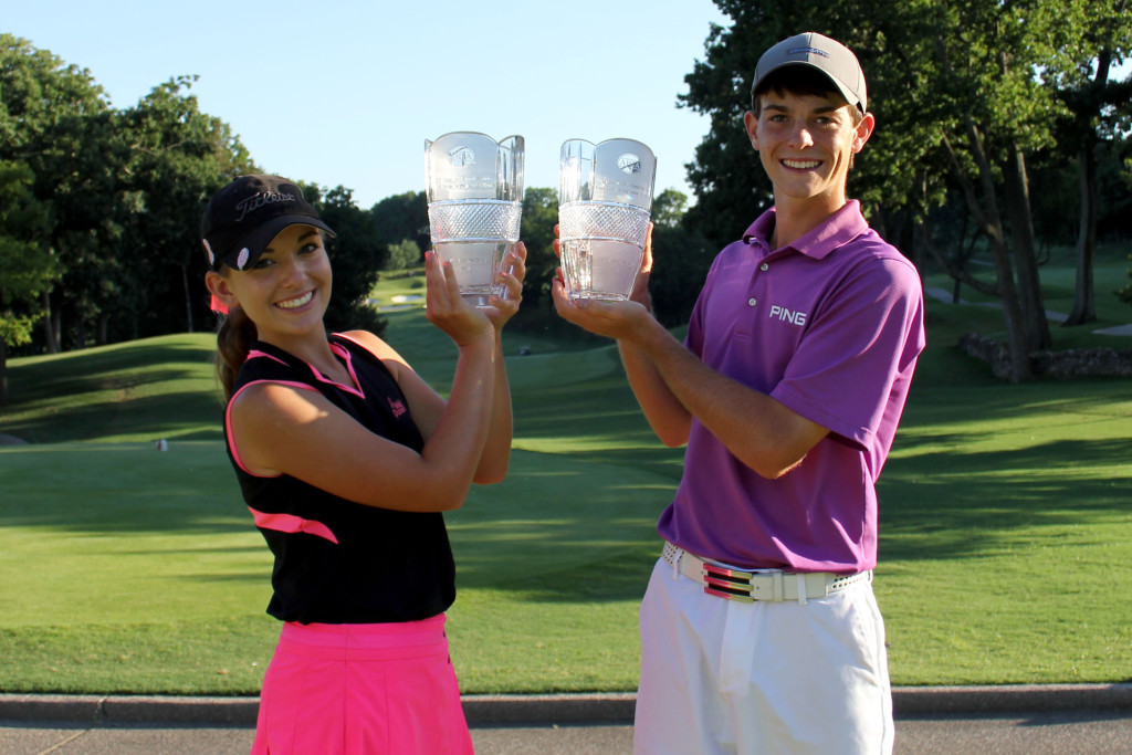 2013 Music City Junior champions Teleri Hughes and Dawson Armstrong now play collegiately with the Tennessee Lady Vols and Lipscomb Bisons respectively. PHOTO COURTESY OF AJGA