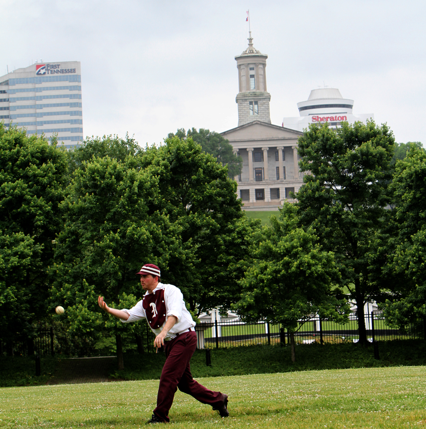 The Nashville Maroons take to Bicentennial Capitol Mall to celebrate our state's birthday Sunday afternoon. PHOTO BY MATTHEW MAXEY