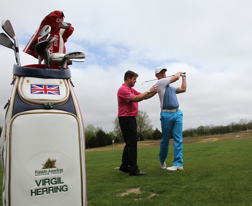 Herring is more than just a teacher of golf; he is also an accomplished player in his own right. PHOTO BY MATTHEW MAXEY